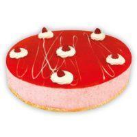 Foto torta ricotta e fragoline